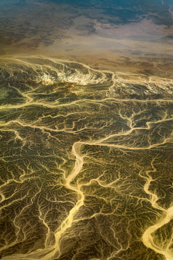 IBXABC04362759 Aerial view, wadis, dry river valleys in Hurghada, Egypt, Africa