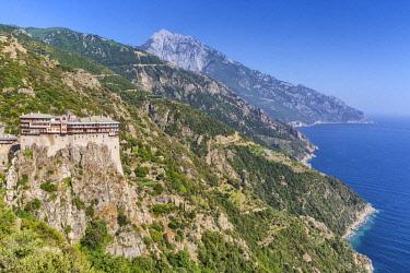GR06583 Simonopetra monastery, Simonos Petra, Mount Athos, Athos peninsula, Greece
