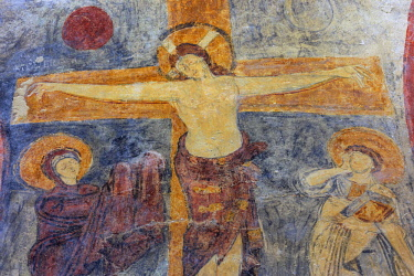 IT09367 Fresco painting (9th century), San Vincenzo al Volturno, Benedictine monastery, Isernia, Molise, Italy