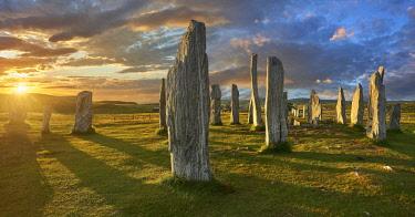 IBXPWP04451400 Callanish Stones, Tursachan Chalanais, neolithic standing stones, Isle of Lewis, Outer Hebrides, Scotland