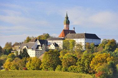 IBXTKE04077027 Kloster Andechs, Benedictine Monastery, Andechs, Upper Bavaria, Bavaria, Germany, Europe