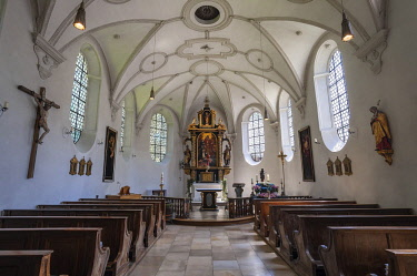 IBLABC04371263 Lorettokapelle or Loretto Chapel, Gasteig, Munich, Bavaria, Germany, Europe