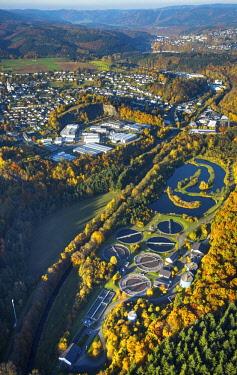 IBLBLO04264482 Wastewater treatment plant Finnentrop-Heggen an der Bigge, Finnentrop, Sauerland, North Rhine-Westphalia, Germany, Europe