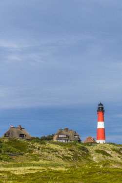 IBLDIE04726005 Lighthouse, Hoernum, Sylt, North Frisia, Schleswig-Holstein, Germany, Europe