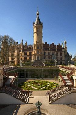 IBLMZC04373543 Schwerin Castle, Orangery, Palace Garden, Schwerin, Mecklenburg-Western Pomerania, Germany, Europe