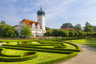 IBLPUR04090259 Delitzsch Castle, Baroque castle, Saxony, Germany, Europe