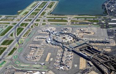 IBLBLO04348208 Aerial view, San Francisco International Airport, Bay Area, San Francisco, California, USA, North America