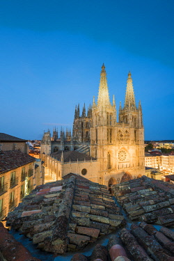 SPA8326AW Spain, Castile and Leon, Burgos. The gothic Cathedral of Saint Mary of Burgos.