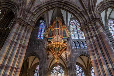 IBLPSF04355702 Church organ, Strasbourg Cathedral, Strasbourg, Alsace, France, Europe