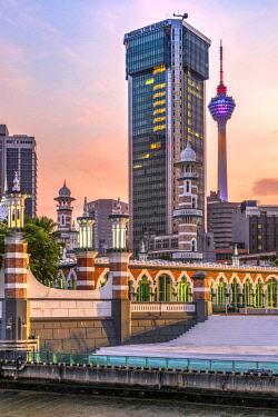 MAY0260AWRF Jamek Mosque, Kuala Lumpur, Malaysia