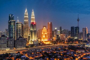 MAY0261AWRF City skyline, Kuala Lumpur, Malaysia