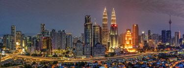 MAY0231AW City skyline, Kuala Lumpur, Malaysia