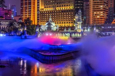MAY0236AW Jamek Mosque and Klang River, Kuala Lumpur, Malaysia