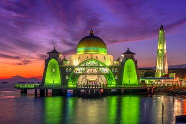 MAY0249AW Melaka Straits Mosque, Malacca City, Malaysia
