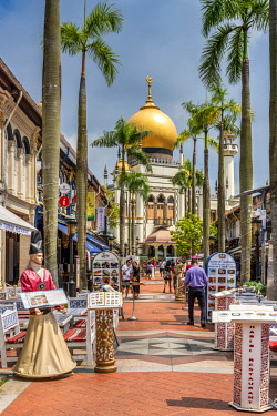 SNG1494AW Sultan Mosque and Arab Street, Singapore
