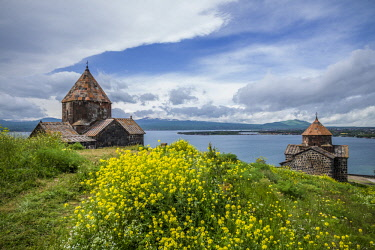 AM031RF Armenia, Lake Sevan, Sevan, Sevanavank Monastery, church exterior