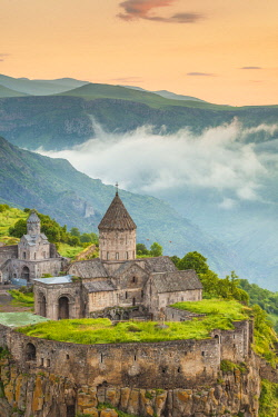 AM035RF Armenia, Tatev, Tatev Monastery, 9th century,  high angle view
