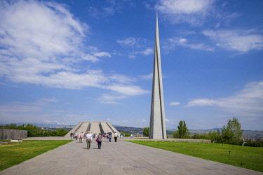 AM01242 Armenia, Yerevan, Armenian Genocide Memorial, monument to the massacre of Armenians of the Ottoman Empire, 1915-1922,