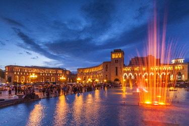 AM01265 Armenia, Yerevan, Republic Square, dancing fountains