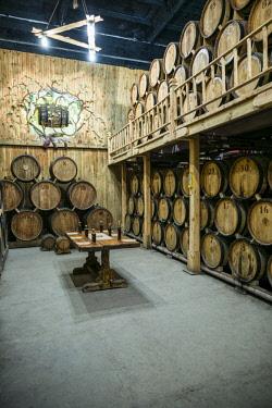 AM01285 Armenia, Switzerland of Armenia area, Ijevan, Ijevan Wine Factory, wine cellar