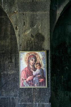 AM01312 Armenia, Yeghegnadzor, Tanahati Monastery, 13th century, icon of Virgin Mary and Jesus Christ