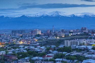 AM01353 Armenia, Yerevan, high angle city skkyline from the east