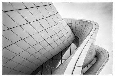 AZ01172 Azerbaijan, Baku, Heydar Aliyev Cultural Center, building designed by Zaha Hadid