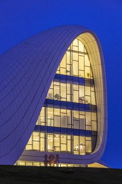 AZ01201 Azerbaijan, Baku, Heydar Aliyev Cultural Center, building designed by Zaha Hadid