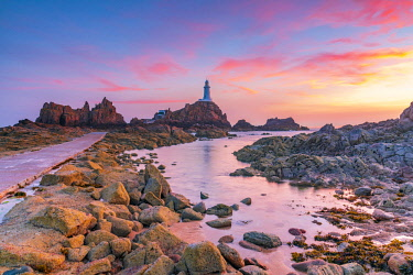UK05231 United Kingdom, Channel Islands, Jersey, Corbiere Lighthouse