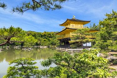 AS15MGL0125 Kyoto, Japan. Kinkaku-Ji, Temple of the Golden Pavilion, also known as Rokuon-Ji