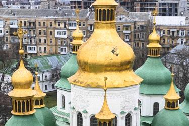 AS43WSU0006 The domes of St. Sophia Cathedral, Kiev, Ukraine.