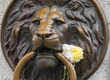 AS43WSU0094 Bronze lion ornament, Odessa, Ukraine.