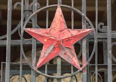 AS43WSU0111 Soviet Star symbol, Odessa, Ukraine.