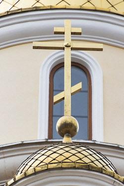 AS43WSU0124 Cross at Russian Orthodox church, Odessa, Ukraine.