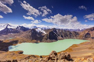 KYR0119 Central Asia, Kyrgyzstan, Karakol, Ala Kol lake (3500m)