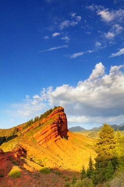 KYR0129 Central Asia, Kyrgyzstan, Karakol, Jeti Oghuz, Broken Heart ridge, sandstone rock formations