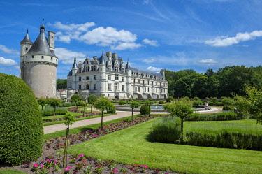 EU09LEN0870 Catherine's Garden, Chateau de Chenonceau, Chenonceaux, France