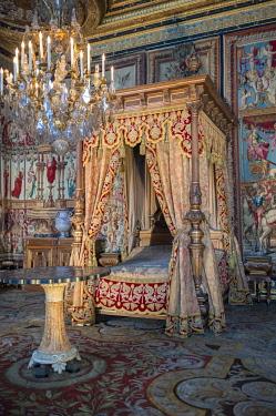 EU09LEN0900 Anne of Austria's bedchamber, Chateau de Fontainebleau, France