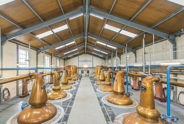 EU30RTI0090 UK, Scotland, Moray, Dufftown. Glenfiddich Distillery