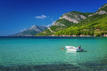 EU32RBS0150 The blue Adriatic Sea at the village of Zuljana, Dalmatia, Croatia