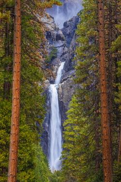 us05mqu0198 North America, USA, California, Yosemite National Park.  Lower Yosemite Falls Framed