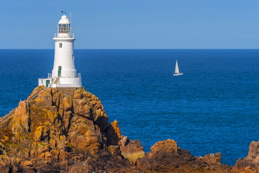 UK679RF United Kingdom, Channel Islands, Jersey, Corbiere Lighthouse