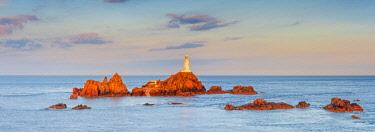 UK680RF United KIngdom, Channel Islands, Jersey, Corbiere Lighthouse