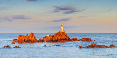 UK681RF United KIngdom, Channel Islands, Jersey, Corbiere Lighthouse