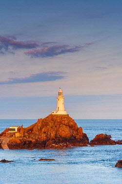 UK682RF United KIngdom, Channel Islands, Jersey, Corbiere Lighthouse