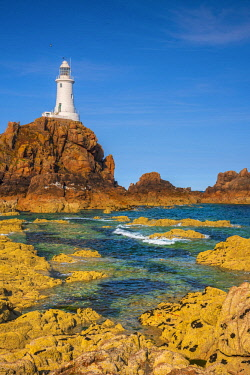 UK684RF United Kingdom, Channel Islands, Jersey, Corbiere Lighthouse