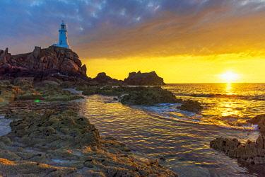 UK692RF United Kingdom, Channel Islands, Jersey, Corbiere Lighthouse