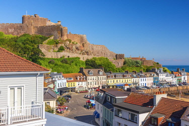 UK703RF United KIngdom, Channel Islands, Gorey, Mont Orgueil Castle or Gorey Castle