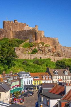 UK704RF United KIngdom, Channel Islands, Gorey, Mont Orgueil Castle or Gorey Castle