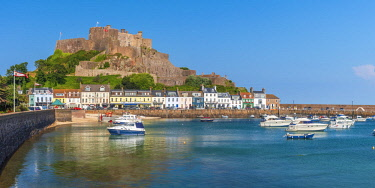 UK705RF United KIngdom, Channel Islands, Gorey, Mont Orgueil Castle or Gorey Castle